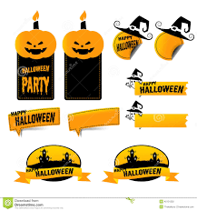 halloween tag banner stock vector image 45131302