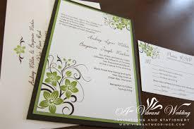 brown and green wedding invitation u2013 a vibrant wedding