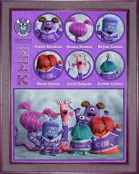 sorority picture frames monsters fraternity and sorority character frames