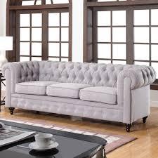 Leather Tufted Sofa Sofas Wonderful Blue Tufted Sofa Scroll Arm Sofa Recliner Sofa