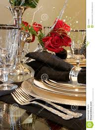 formal dining room place setting stock photography image 4745602