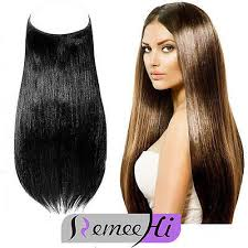 invisible hair 100g thick human hair invisible wire secret halo hair extension 28cm