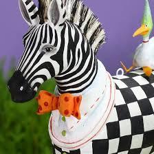 patience brewster jambo zeke zebra ornament