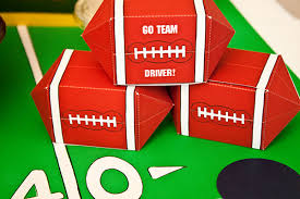piggy bank favors football favor box diy printable piggy bank