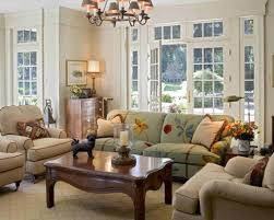 country style furniture living room leather sofa fireplace cottage