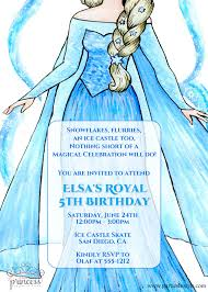 elsa frozen birthday party invitation original poem
