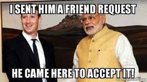 Hilarious Facebook Memes - when modi meets mark zuckerberg five hilarious memes to share