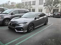 lowered cars 2017 hatchback sport has anyone lowered it 2016 honda civic