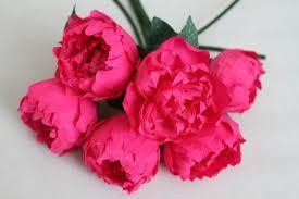 crepe paper flowers 6 pink paper peonies wedding peonies crepe paper flowers
