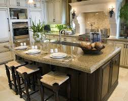 kitchen islands with granite granite kitchen island with seating petrun co