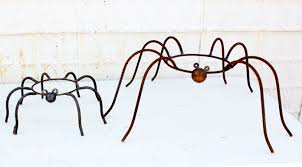 Gazing Globe Pedestal Wrought Iron Spiders Gazing Ball Holders Pot Holders In 2 Sizes