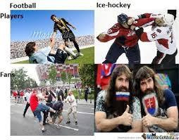 Soccer Hockey Meme - he got hit by a sniper by animancer meme center