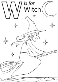 witch coloring free printable coloring pages