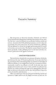 executive summary electronic scientific technical and medical