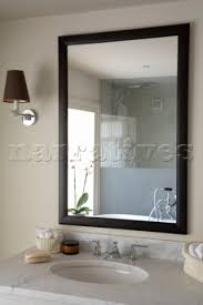 Black Mirror Bathroom Mirror Design Ideas Sussex Above Black Framed Bathroom Mirror
