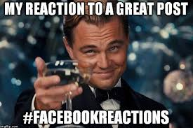 Facebook Meme Maker - why actions speak louder than facebook reactions for marketers