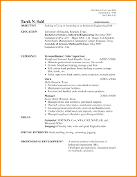 Banking Resume With No Experience Investment Banking Resume Example Bank Teller Resume With No