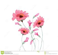 beautiful water color paintings of flowers stock vector image