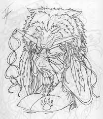 native american outline by infernothebloodhound tattoos designs