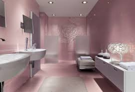 Purple And Cream Bathroom Bathroom Cream White Bathroom Decoration With Stripe Wall Design