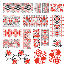 ukraine pattern vector ukrainian ethnic national seamless patterns vector stock vector