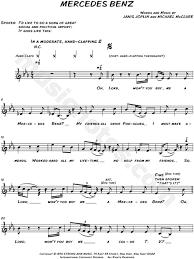 lord won t you buy me a mercedes janis joplin mercedes sheet leadsheet in eb major