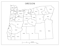 oregon labeled map