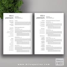 Resume Template For Mac Free Creative Resume Template Modern Cv Word Cover Lette Saneme