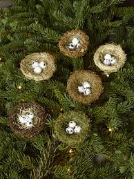 bird nest ornament set of 6 tree ornaments