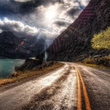 hdr mountain road ipad wallpaper download iphone wallpapers