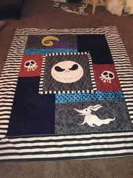handmade nightmare before christmas quilt custom order for