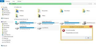 drive not accessible portable drive is not accessible the parameter is incorrect