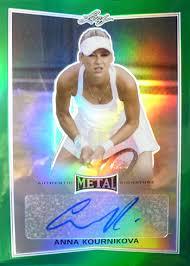 2016 leaf metal tennis cards checklist details all the big