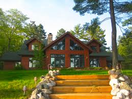 cedar sided chalet style home chalets by dickinson homes