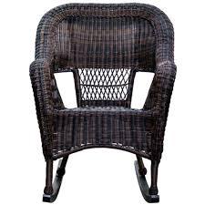 Outdoor Patio Rocking Chairs Dark Brown Wicker Outdoor Patio Rocking Chair At Home At Home