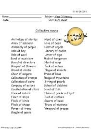 common and proper nouns poster collective nouns worksheet