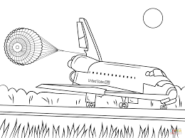 space shuttle endeavour landing coloring page free printable