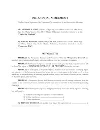 30 prenuptial agreement samples u0026 forms template lab