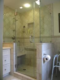 frameless shower enclosure l shape with high knee walls clip