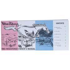 jim osborn reproductions 105651 mustang owner u0027s manual 1965