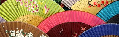 Large Oriental Wall Fans by