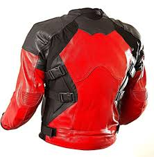 motorcycle jackets with armor armored style deadpool bikers leather jacket deadpool movie