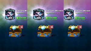 dapet electro wizard lagi dari clan battle chest clash royale