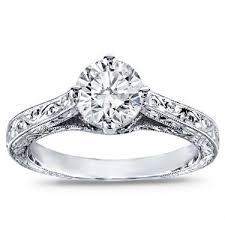 hand engraved rings images Hand engraved solitaire engagement setting r2949 jpg