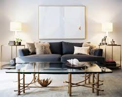 Living Room Accent Tables Modern Living Room With Grey Sofa And Side Tables With Table Ls