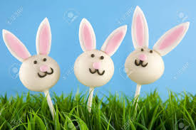 easter cakepops easter bunny cake pops stock photo picture and royalty free image