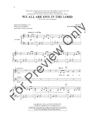 Nancy Price by We Are All One In The Lord Satb By Nancy J W Pepper Sheet Music