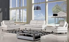 sidon white top grain leather sofa