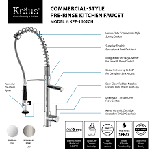 commercial style kitchen faucet kraus 36