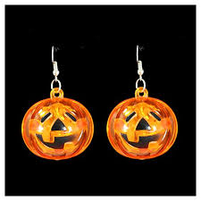 halloween flashing light up pumpkin earrings halloween costumes